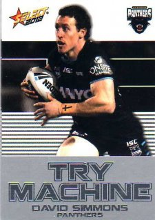 2012 NRL Champions Try Machine #TM33 David Simmons Panthers