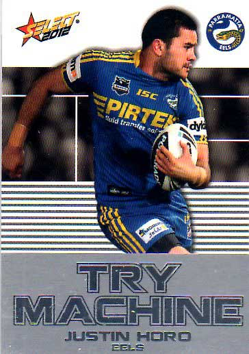 2012 NRL Champions Try Machine #TM30 Justin Horo Eels