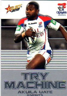 2012 NRL Champions Try Machine #TM23 Akuila uate Knights