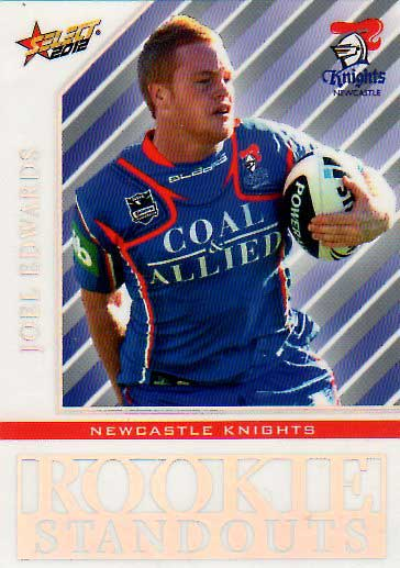 2012 NRL Champions Rookie Standouts #RS11 Joel Edwards Knights