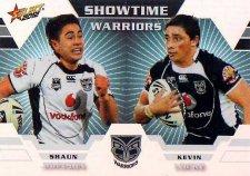 2012 NRL Champions Showtime #ST15 Johnson / Locke Warriors