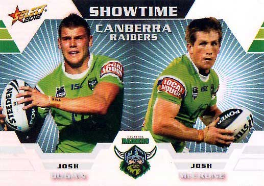 2012 NRL Champions Showtime #ST2 Dugan / McCrone Raiders