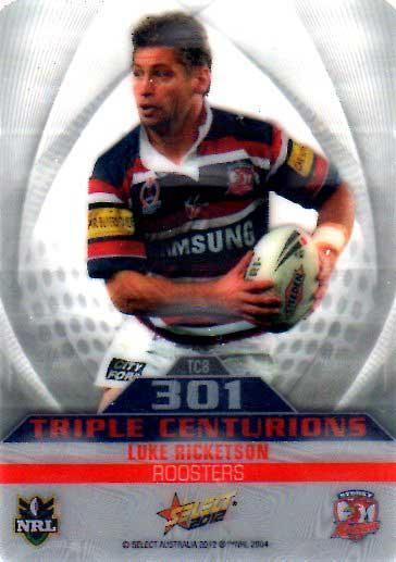 2012 NRL Champions Triple Centurion TC8 Luke Ricketson Roosters