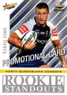 2012 NRL Champions PROMO Card Tariq Sims Cowboys
