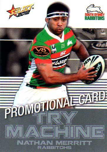 2012 NRL Champions PROMO Card Nathan Merritt Rabbitohs