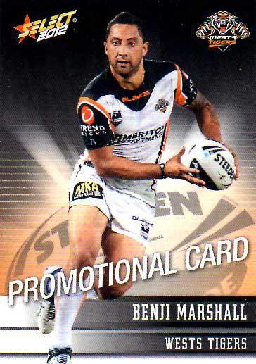 2012 NRL Champions PROMO Card Benji Marshall Tigers