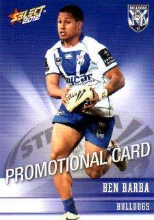 2012 NRL Champions PROMO Card Ben Barba Bulldogs