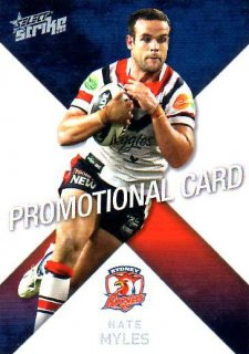 2011 NRL Strike PROMO Card Nate Myles Roosters