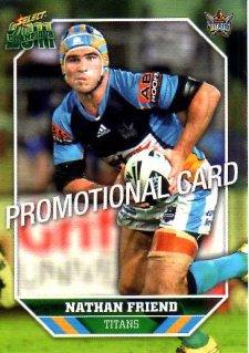 2011 NRL Champions PROMO Card Nathan Friend Titans