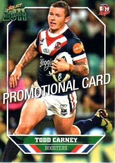 2011 NRL Champions PROMO Card Todd Carney Roosters
