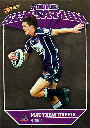 2011 NRL Champions Rookie Sensation #RS8 Matthew Duffie Storm