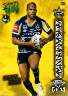 2010 NRL Champions Sensations Gem #S18 Michael Bani Cowboys