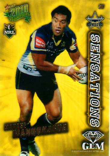 2010 NRL Champions Sensations Gem #S17 Manase Manuokafoa Cowboys