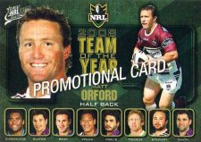 2009 NRL Classic PROMO Card Matt Orford Sea Eagles