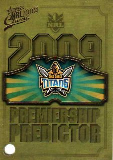 2009 NRL Classic Titans Redeemed Predictor