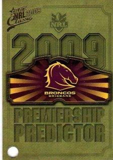 2009 NRL Classic Broncos Redeemed Predictor