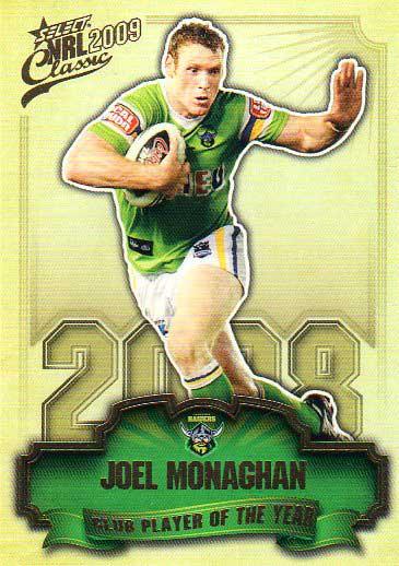 2009 NRL Classic CPOTY #CP3 Joel Monaghan Raiders