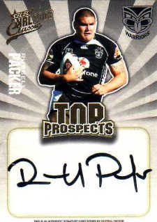 2009 NRL Classic Top Prospects Signature TP15 Russell Packer Warriors #196/300