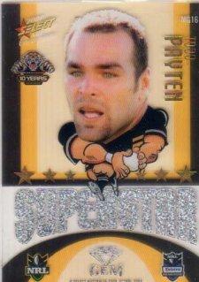 2009 NRL Champions Mascot Gem #MG16 Todd Payten Tigers