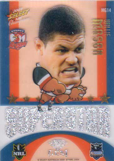 2009 NRL Champions Mascot Gem #MG14 Willie Mason Roosters
