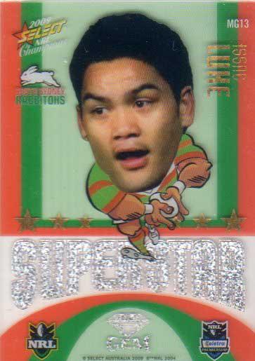 2009 NRL Champions Mascot Gem #MG13 Issac Luke Rabbitohs