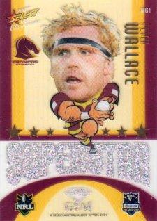2009 NRL Champions Mascot Gem #MG1 Peter Wallace Broncos