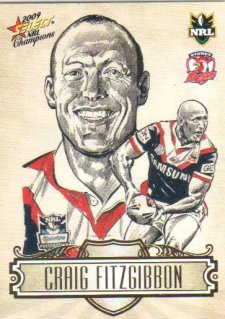 2009 NRL Champions Sketch #SK27 Craig Fitzgibbon Roosters