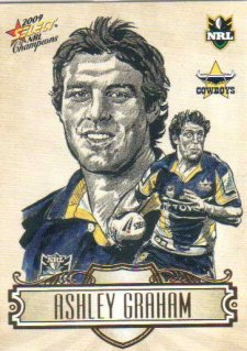2009 NRL Champions Sketch #SK18 Ashley Graham Cowboys