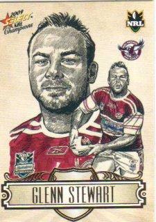 2009 NRL Champions Sketch #SK12 Glenn Stewart Sea Eagles