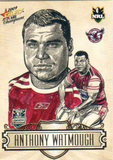 2009 NRL Champions Sketch #SK11 Anthony Watmough Sea Eagles