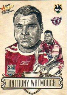 2009 NRL Champions Sketch #SK11 Anthony Watmough Sea Eagles