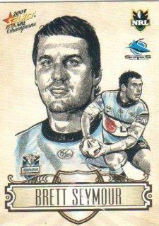 2009 NRL Champions Sketch #SK8 Brett Seymour Sharks
