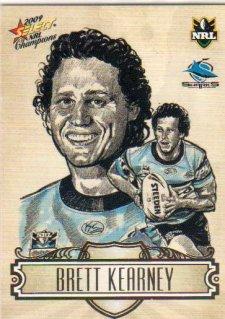 2009 NRL Champions Sketch #SK7 Brett Kearney Sharks