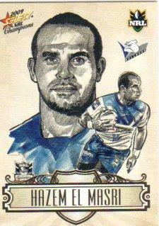 2009 NRL Champions Sketch #SK3 Hazem El Masri Bulldogs