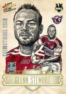 2009 NRL Champions PROMO Card Glenn Stewart Sea Eagles