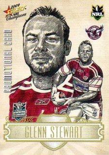 2009 NRL Champions PROMO Card Glenn Stewart Sea Eagles