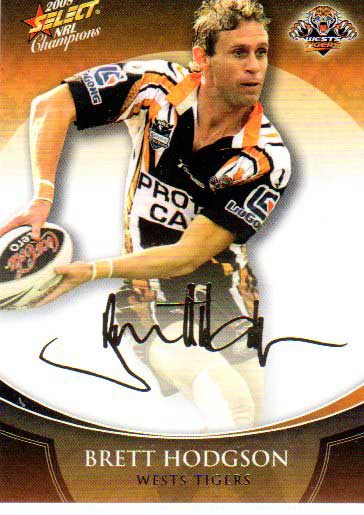 2008 NRL Champions Foil Signature #FS47 Brett Hodgson Tigers