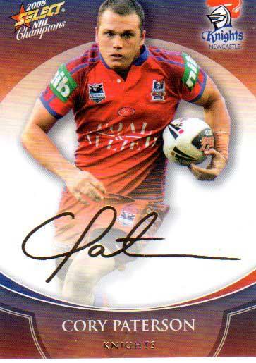 2008 NRL Champions Foil Signature #FS24 Cory Paterson Knights