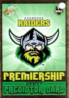 2007 NRL Invincible Raiders Redeemed Predictor