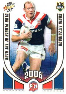 2007 NRL Invincible CPOTY #CP13 Craig Fitzgibbon Roosters
