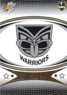 2007 NRL Invincible Common #172 Warriors Logo