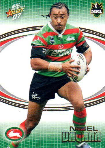 2007 NRL Invincible Common #157 Nigel Vagana Rabbitohs