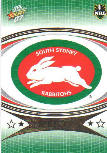 2007 NRL Invincible Common #148 Rabbitohs Logo