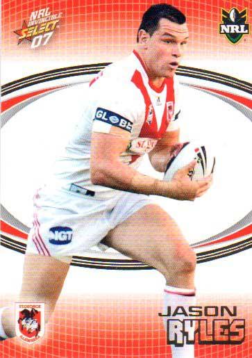 2007 NRL Invincible Common #142 Jason Ryles Dragons