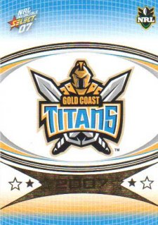 2007 NRL Invincible Common #52 Titans Logo
