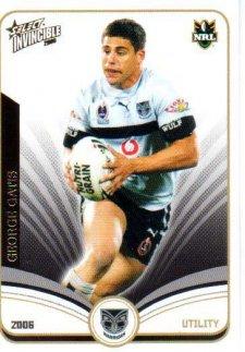 2006 NRL Invincible Common #170 George Gatis Warriors