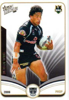 2006 NRL Invincible Common #167 Ruben Wiki Warriors