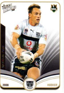 2006 NRL Invincible Common #163 Nathan Fien Warriors
