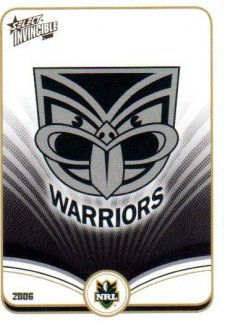 2006 NRL Invincible Common #159 Warriors Logo