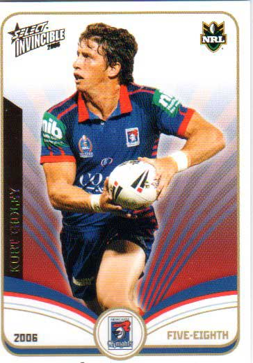 2006 NRL Invincible Common #77 Kurt Gidley Knights